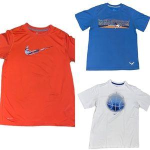 Nike Boy's Bundle of 3 Tee Shirts Size Large